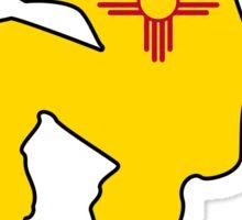 New Mexico flag skateboarder Sticker