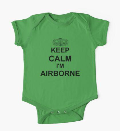 Keep Calm I'm Airborne - Parachutist One Piece - Short Sleeve