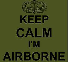 Keep Calm I'm Airborne - Parachutist Photographic Print