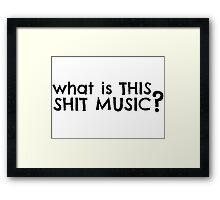Dumb Stupid Music Party T-Shirts Framed Print