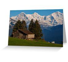 Jungfrau , Mench, Eiger, Alpen Greeting Card
