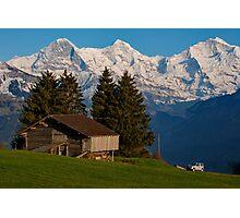 Jungfrau , Mench, Eiger, Alpen Photographic Print