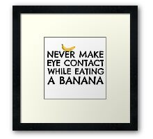 Banana Joke Funny Sex Humour Dick Joke Man Woman Fruit Framed Print