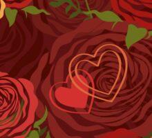 Red Valentine's Day floral pattern Sticker