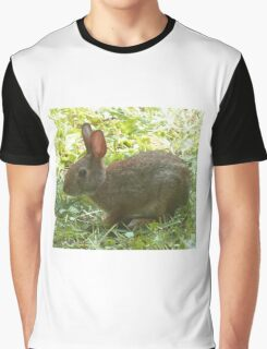 Rabbit in the Backyard Graphic T-Shirt