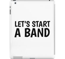 Band Music Song Rock Guitar Drums Bass Musician  iPad Case/Skin