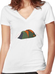 Tent Women's Fitted V-Neck T-Shirt