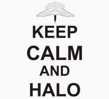 Keep Calm and HALO - Freefall Baby Tee