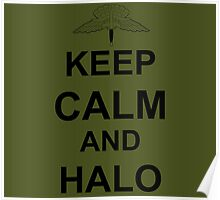 Keep Calm and HALO - Freefall Poster