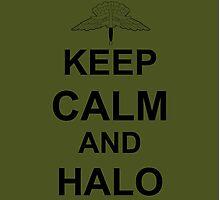 Keep Calm and HALO - Freefall Photographic Print