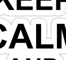 Keep Calm and HALO - Freefall Sticker