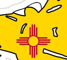 New Mexico flag snowmobiler Sticker