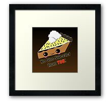 KAWAII PIE Framed Print