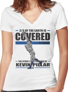Kevin Pillar Women's Fitted V-Neck T-Shirt