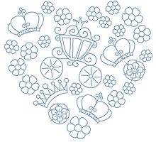 Pattern of little princess doodles Photographic Print
