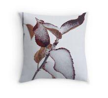 Autumn Snow Dust Throw Pillow