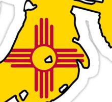New Mexico flag dirtbiker Sticker