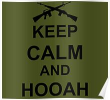 Keep Calm and Hooah - Army Poster