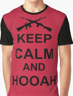 Keep Calm and Hooah - Army Graphic T-Shirt