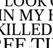 Funny Black Dark Humour Killer Weird Comedy Sticker