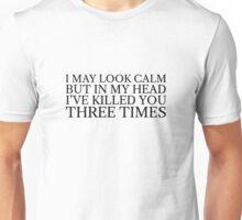 Funny Black Dark Humour Killer Weird Comedy Unisex T-Shirt