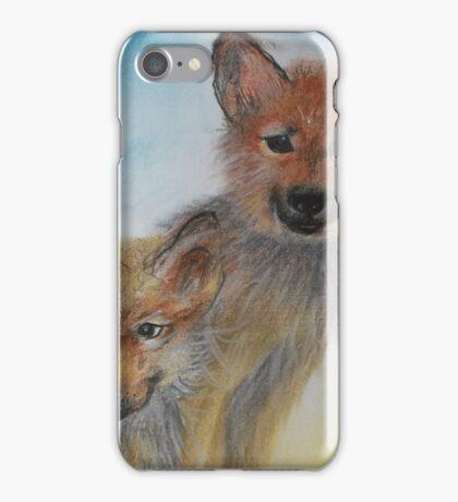 Fox babies iPhone Case/Skin