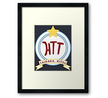 K-ON! - Hōkago Tea Time Name Badge (Ritsu) Framed Print