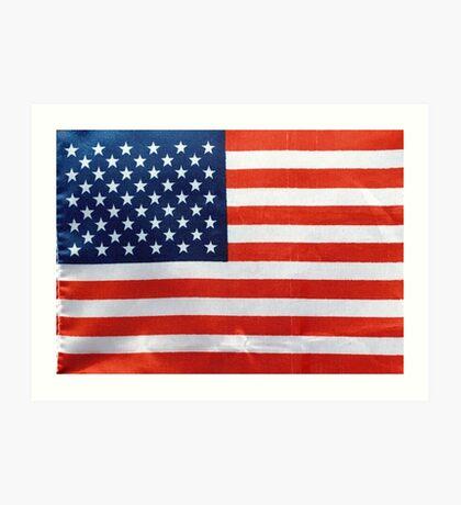 American Flag RED WHITE & BLUE Art Print