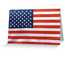 American Flag RED WHITE & BLUE Greeting Card