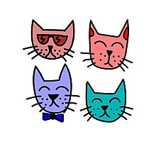 Graffiti Cats Photographic Print