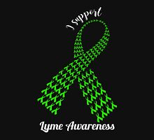 Support Lyme Awareness! (White Text) Womens Fitted T-Shirt