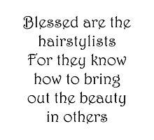 Hairstylist Photographic Print