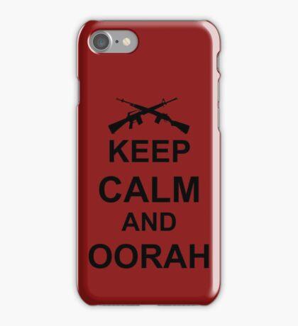 Keep Calm and Oorah - Marines iPhone Case/Skin