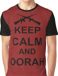 Keep Calm and Oorah - Marines Graphic T-Shirt