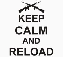 Keep Calm and Reload Kids Tee