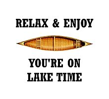 On Lake Time Photographic Print