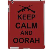 Keep Calm and Oorah - Marines iPad Case/Skin