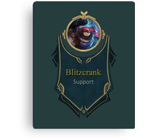 League of Legends - Blitzcrank Banner (Riot) Canvas Print