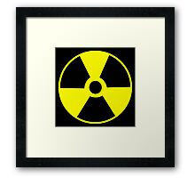 Radioactive symbol Atomic racioactiviey science geek gifts Framed Print