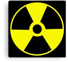 Radioactive symbol Atomic radioactivity science geek gifts Canvas Print