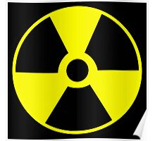Radioactive symbol Atomic racioactiviey science geek gifts Poster