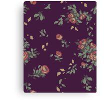Pixel Floral Leggings Canvas Print