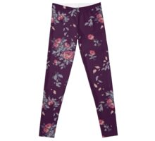 Pixel Floral Leggings Leggings
