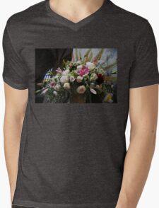 Uplifting Bouquet of Flowers  Mens V-Neck T-Shirt