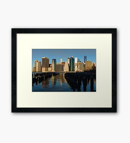 New York City Morning Reflections - Impressions Of Manhattan Framed Print