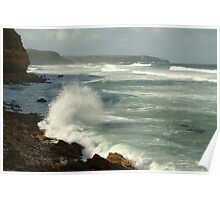 Joe Mortelliti Gallery - White water on Nelson Bay at the south end of Portland, west coast of Victoria, Australia.  Poster