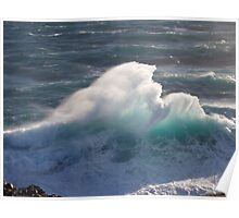Spectacular breaker at Cape Bridgewater, near Portland, Victoria's west coast, Australia. Poster