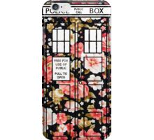 Floral TARDIS 2 iPhone Case/Skin