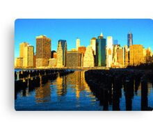 Bright and Sunny New York City Skyline - Impressions Of Manhattan Canvas Print