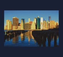 Bright and Sunny New York City Skyline - Impressions Of Manhattan Kids Tee